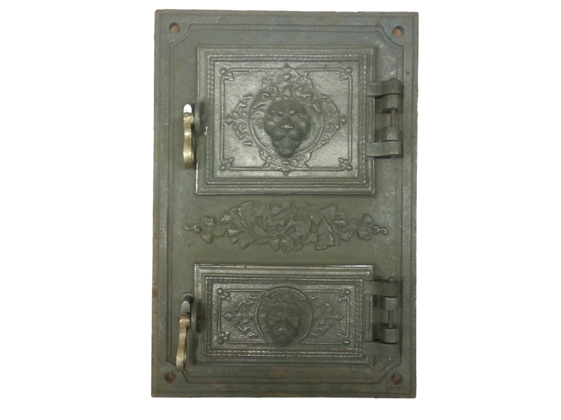 drzwiczki,żeliwne,piecowe,kuchenne,prostokątne, z popielnikiem, LEW 00188