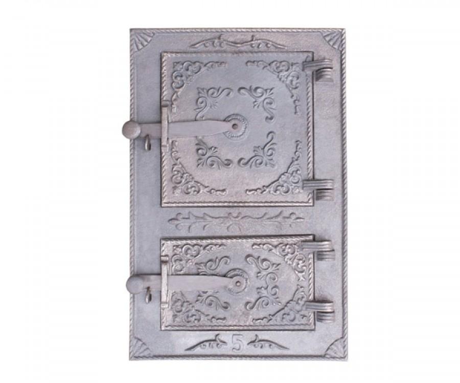 drzwiczki żeliwne kuchenne duże bogato zdobione 00096