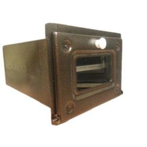 piekarnik stalowy front miedź antyczna z szybą 00148