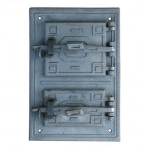 drzwiczki żeliwne prostokątne z popielnikiem piecowe do pieca kaflowego 00018