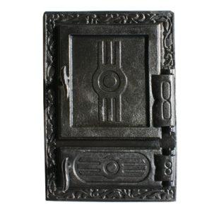 drzwiczki żeliwne prostokątne z popielnikiem 00509