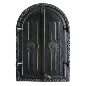 drzwiczki żeliwne półokrągłe do wędzani, wędzarniowe 00601