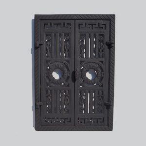 drzwiczki żeliwne prostokątne ażurowe 00092