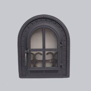 drzwiczki żeliwne półokrągłe piecowe do paleniska 00041