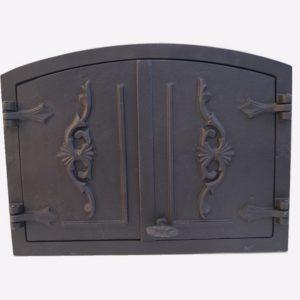 drzwiczki żeliwne półokrągłe do wędzarni do pieca chlebowego 00019