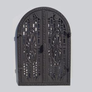 drzwiczki żeliwne ażurowe półokrągłe 00089