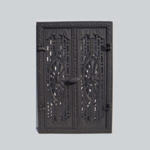 drzwiczki żeliwne ażurowe prostokątne 00007