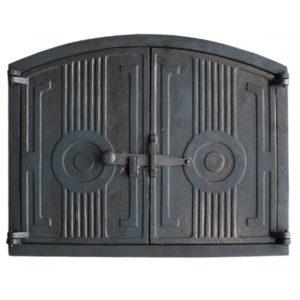 drzwiczki żeliwne półokrągłe do wędzarni do pieca chlebowego 00221