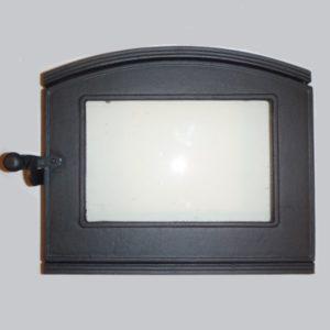 drzwiczki żeliwne półokrągłe z szybą do pizzy 00123