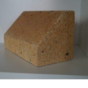 Kształtka szamotowa opór do budowy sklepień pieców chlebowych, zduńska,materiały zduńskie, szamotowe,szamotowa